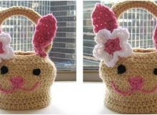 beautiful crocheted Easter bunny basket | the crochet space