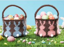 bunny egg crocheted basket | the crochet space