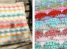 stylish crocheted clamshell pattern | the crochet space