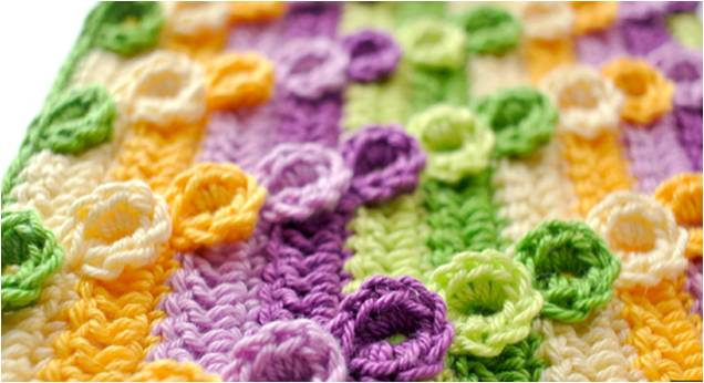 crochet diagonal textured stitch | the crochet space
