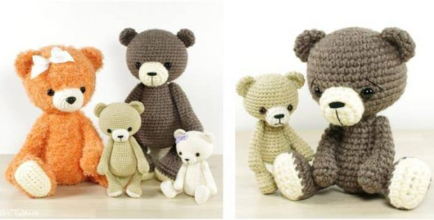 Delightful Crocheted Bear Collection Free Crochet Pattern