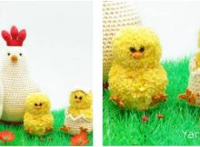 adorable crocheted chicken family | the crochet space