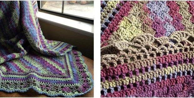 beautiful crocheted edge throw | the crochet space