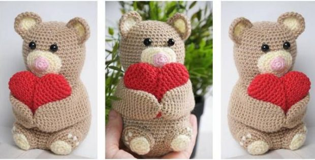 Amigurumi Free Patterns Bear : Cuddly crocheted amigurumi teddy bear [free crochet pattern]