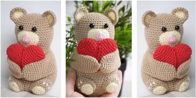 cuddly crocheted amigurumi teddy bear | the crochet space