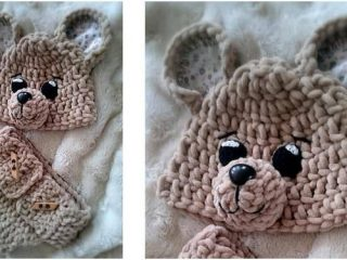 cute crocheted teddy bear set | the crochet space