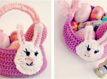 cute crocheted Easter bunny basket | the crochet space
