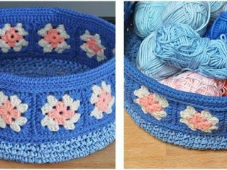 lovely crocheted floral basket   the crochet space