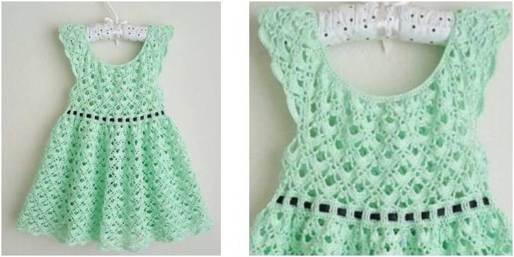 Gemstone lace crocheted toddler dress | the crochet space