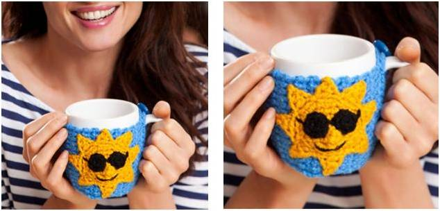 good morning crocheted mug hug | the crochet space