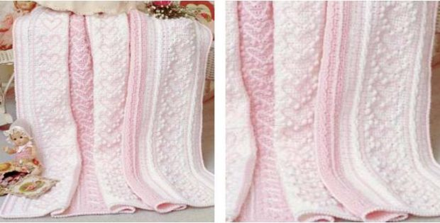 Heart Strings Crocheted Baby Afghan Free Crochet Pattern