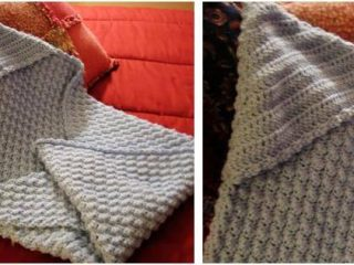 cosy crocheted hooded baby blanket | the crochet space
