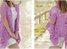 lilac dream crocheted jacket   the crochet space