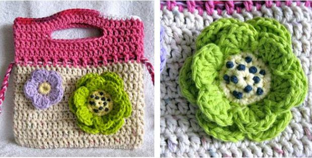stylish crocheted little floral purse | the crochet space