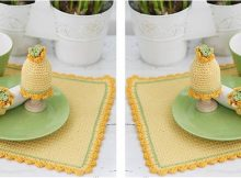 lovely crocheted table setting   the crochet space