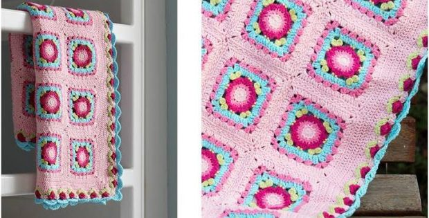 Lydia crocheted baby blanket | the crochet space