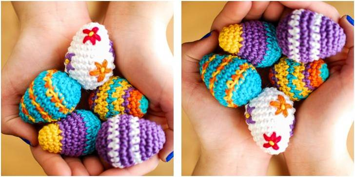 15 Colorful and Lovely Easter Egg Crochet Patterns | 364x728