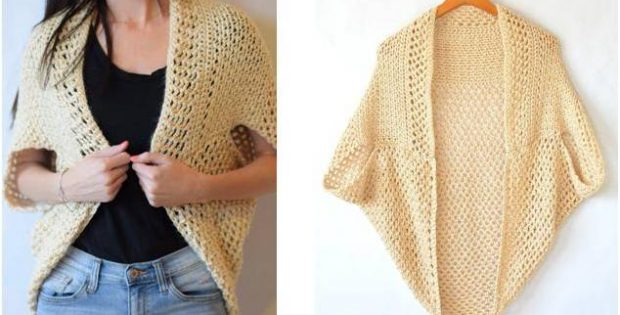 mod mesh crocheted blanket sweater | the crochet space