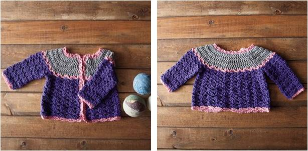 patty cake crocheted cardigan | the crochet space
