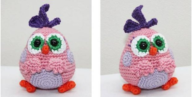 Adorable Crocheted Pink Hatchling Angry Birds [FREE Crochet Pattern]