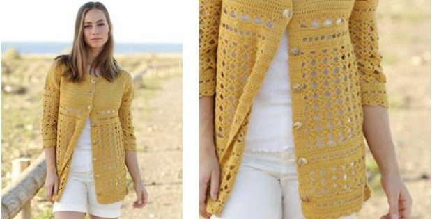 Sahara Crocheted Cardigan Free Crochet Pattern