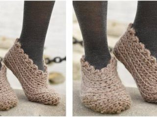 shifting sand crocheted slippers   the crochet space