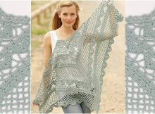stylish crocheted lace shawl | the crochet space