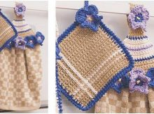 lovely crocheted towel topper pot holder set | the crochet space