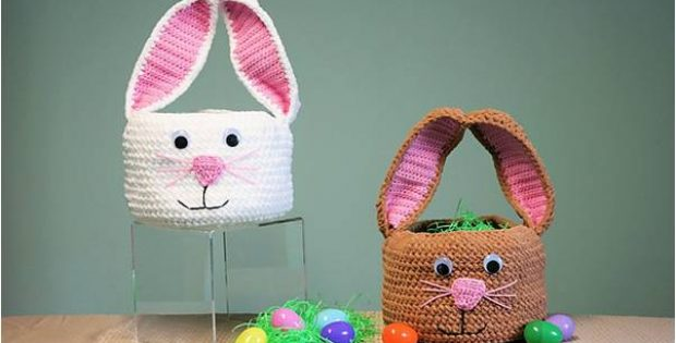 treatsie crocheted bunny basket | the crochet space