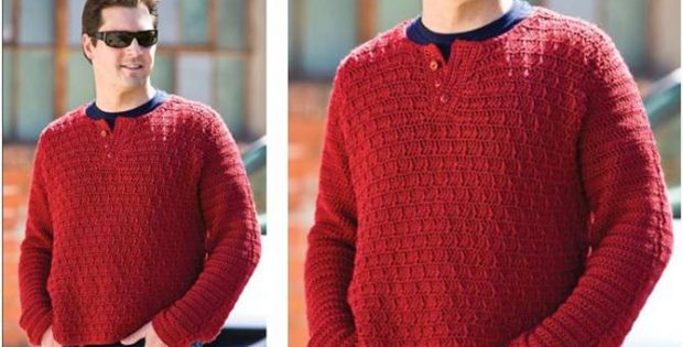 wine country crocheted pullover | the crochet space