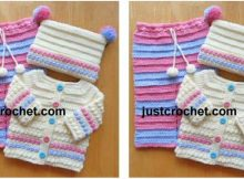 adorable crocheted 3-piece set   the crochet space