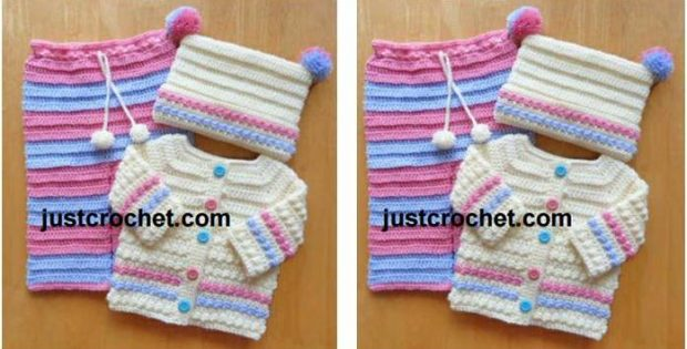 adorable crocheted 3-piece set | the crochet space