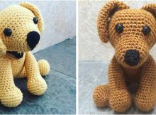 adorable crocheted labrador puppy toy | the crochet space