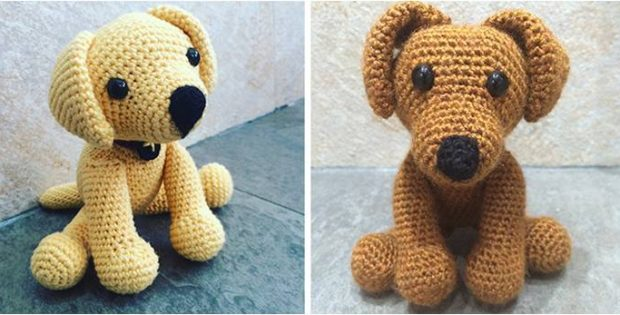 Adorable Crocheted Labrador Puppy Toy Free Crochet Pattern