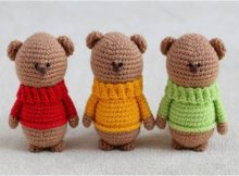adorable crocheted teddy bear brothers | the crochet space