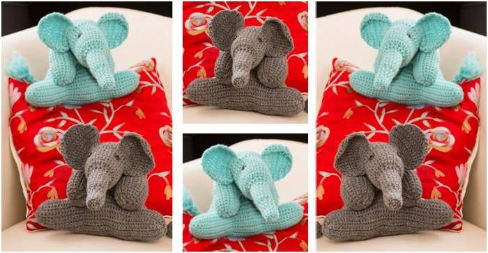 adorable crocheted elephant friends | the crochet space