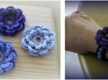 attachable crocheted flower accent piece | the crochet space