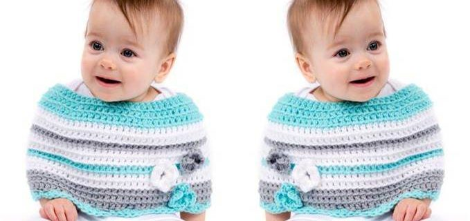 baby's first crocheted poncho | the crochet space