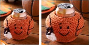 basketball crocheted can cozy | the crochet space
