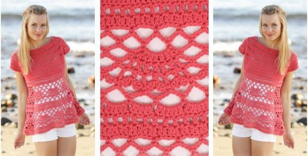 Beautiful Astoria Crocheted Top Free Crochet Pattern
