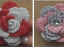 beautiful crocheted rose   the crochet space