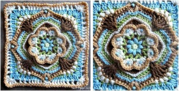 beautiful De Rust crocheted square | the crochet space