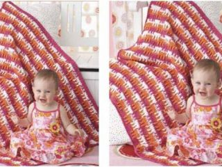 bright textures crocheted baby blanket | the crochet space