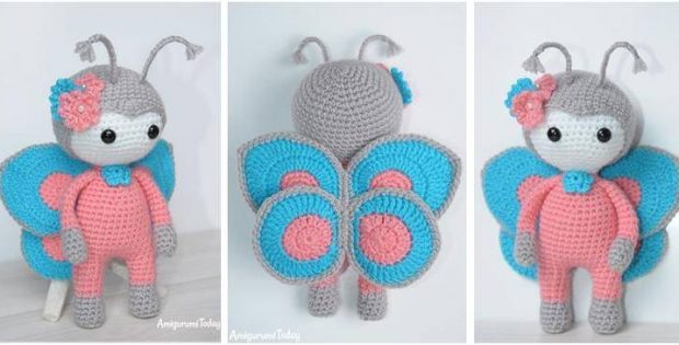 charming butterfly amigurumi doll | the crochet space