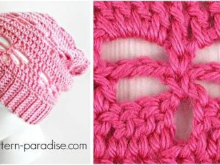 charming crocheted dragonfly slouchy hat | the crochet space