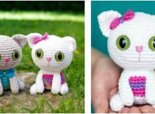 cheeky kitty crocheted toy | the crochet space