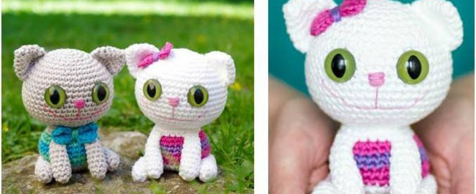 Cheeky Kitty Crocheted Toy [FREE Crochet Pattern]