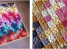 cheerful pixelated crocheted blanket   the crochet space