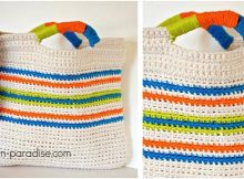cheerful crocheted tutti frutti bag | the crochet space