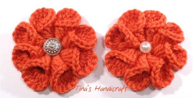Crocheted 3D Flower [FREE Crochet Video Tutorial]